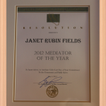 Mediator of the Year (2012)