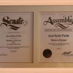 California Senate Assembly Recognition