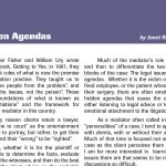 Article | Hidden Agendas
